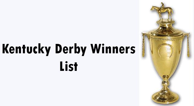 kentucky derby winners